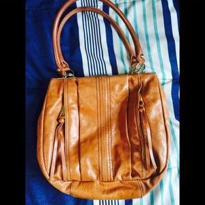 Steve Madden brown leather handbag